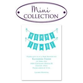 Baby Sprinkle Invitations: Banner Day Mini Baby Shower Invitation