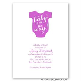On the Way - Petite Baby Shower Invitation
