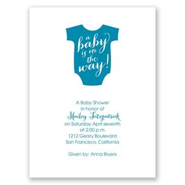 Baby Shower Invitations: On the Way Petite Baby Shower Invitation