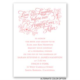 Love & Laughter - Mini Rehearsal Dinner Invitation