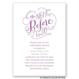 The Night Before - Mini Rehearsal Dinner Invitation