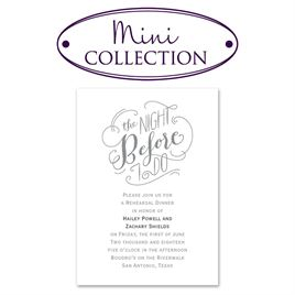 Rehearsal Dinner Invitations: 