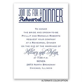 Simply Stylish - Mini Rehearsal Dinner Invitation