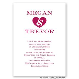 Love Forever - Mini Rehearsal Dinner Invitation