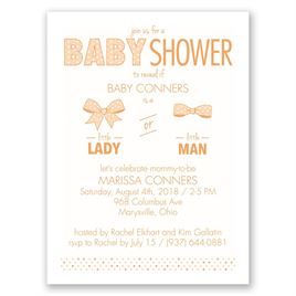 Gender Reveal Invitations: Little One Petite Baby Shower Invitation
