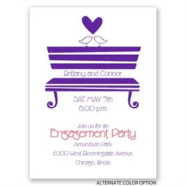 "Love""s Perch - Petite Engagement Party Invitation"