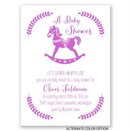 Rocking Horse - Petite Baby Shower Invitation