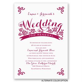 Flowers and Ribbon - Vow Renewal Invitation
