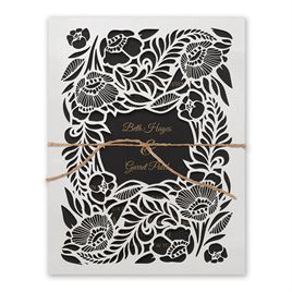 Woodland Window - Black - Laser Cut Invitation