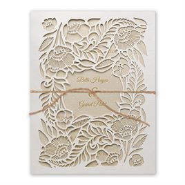 Woodland Window - Gold - Laser Cut Invitation