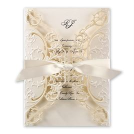 Royal Details Laser Cut Invitation