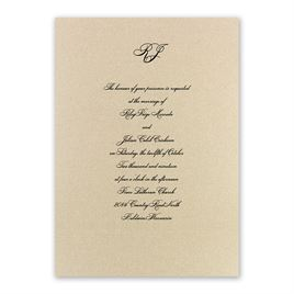 Royal Details - Black Shimmer - Laser Cut Invitation