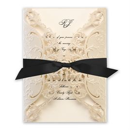 Royal Details - Champagne - Laser Cut Invitation