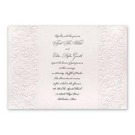 Elegance and Grace - Mushroom - Invitation