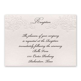Wedding Reception Cards Elegance And Grace Card