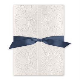Elegance and Grace - Steel Blue - Invitation