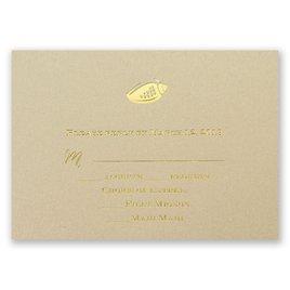 Wedding Response Cards: Sun Kissed Foil Response Card