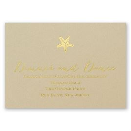 Sun Kissed - Foil Reception Card