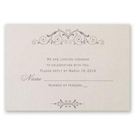 Elegant Arrangement - Response Card