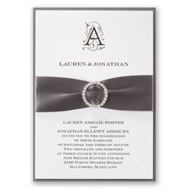 Wedding Invitations with Ribbon: 