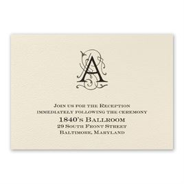 Luxe Details - Reception Card