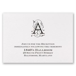 Sheer Sophistication - Reception Card