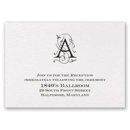 Sheer Sophistication - Reception Card