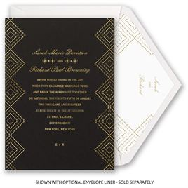 Modern Deco - Foil Invitation