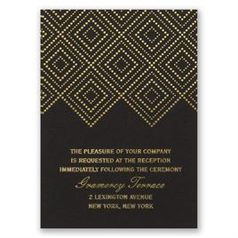 Modern Deco - Foil Reception Card