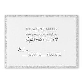 Wedding Response Cards: Silver Sparkle Response Card