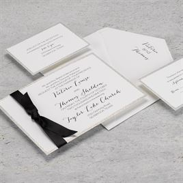 Silver Sparkle - Horizontal - Invitation