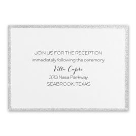 Silver Sparkle - Reception Card