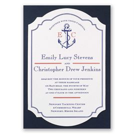nautical wedding invitations | invitations by dawn, Wedding invitations
