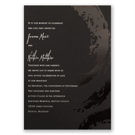 modern wedding invitations bold refined foil invitation - Modern Wedding Invitations