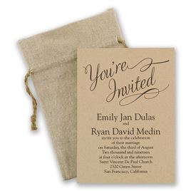 kraft paper wedding invitations | invitations by dawn, Wedding invitations