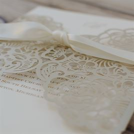 Bed of Roses - Laser Cut Invitation