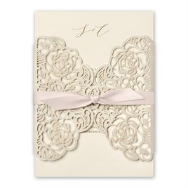 Bed of Roses - Blush - Laser Cut Invitation