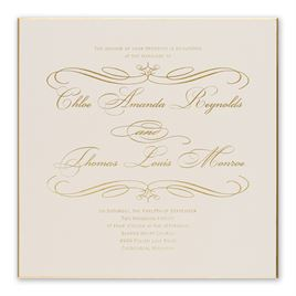gold wedding invitations gold finish foil invitation - Wedding Invitations Gold