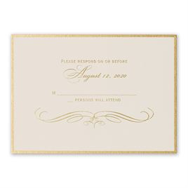 Gold Finish - Foil Response Card