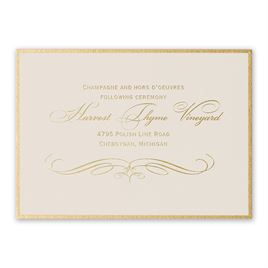 Gold Finish - Foil Reception Card