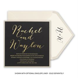 Gold Signature - Foil Invitation