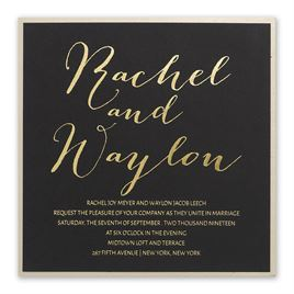 Gold Signature Foil Invitation