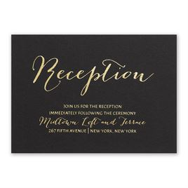 Gold Signature - Foil Reception Card
