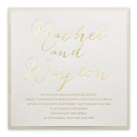 gold wedding invitations signature style foil invitation - Wedding Invitations Gold