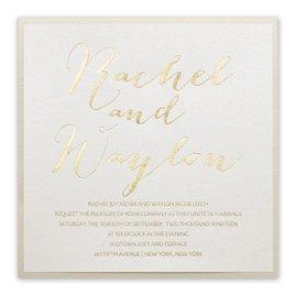 Signature Style Foil Invitation