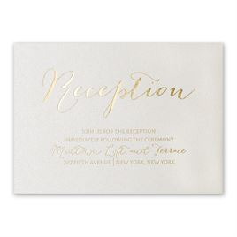 Signature Style - Ecru Shimmer - Foil Reception Card