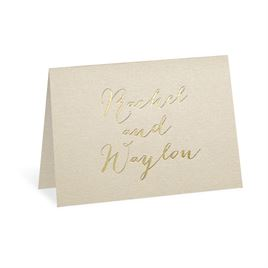 Gold Signature - Foil Thank You Card