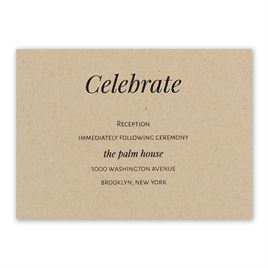 Naturally Chic - Reception Card