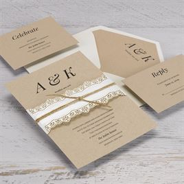 Naturally Chic - Laser Cut Invitation