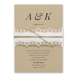 Naturally Chic - Sand Jute Cord - Invitation